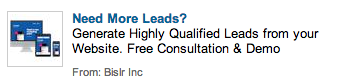 LinkedIn Ads Bad Example