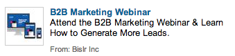 LinkedIn PPC Ad Good Example