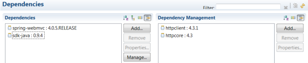 Maven Dependencies