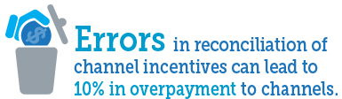 Errors in reconciliation of channel incentives can lead to 10% in over-payment to channels