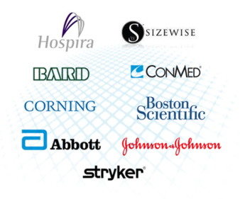 Customers include Abbott, Bard, Boston Scientific, ConMed, Corning, Hospira, Johnson & Johnson, Sizewise and Stryker.
