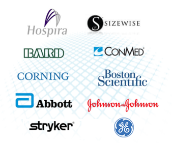 Customers include Abbott, Bard, Boston Scientific, ConMed, Corning, GE, Hospira, Johnson & Johnson, Sizewise and Stryker.