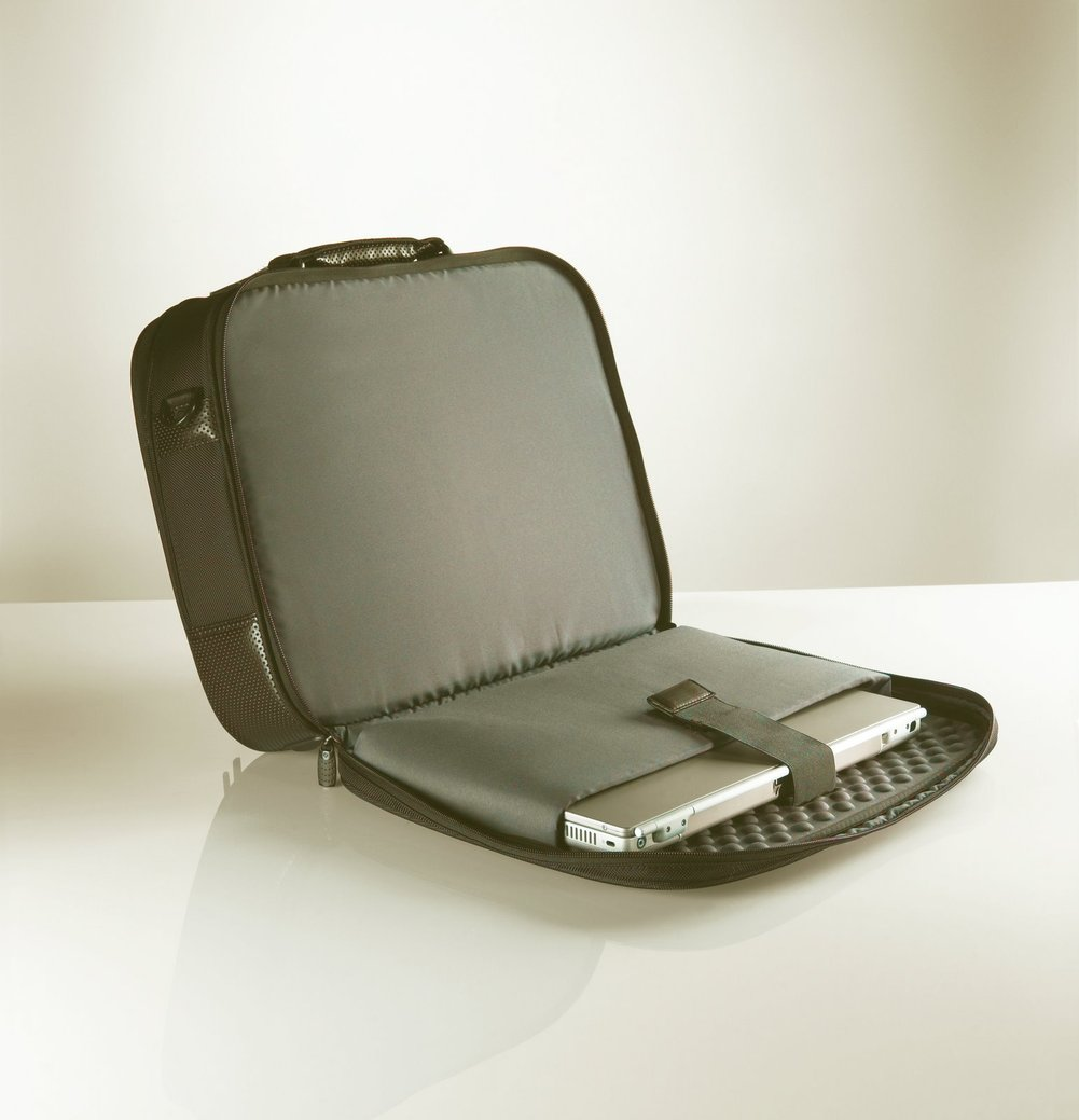 suitcase with laptop space